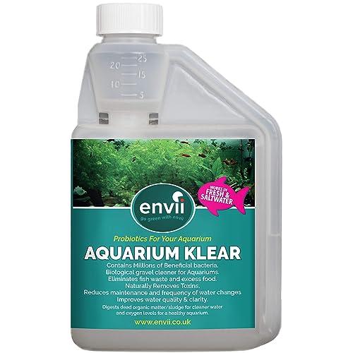 Envii Aquarium Klear - Traitement de l'eau Verte Qui améliore la clarté de l'eau et des graviers de l'aquarium - Traite 4 000 litres