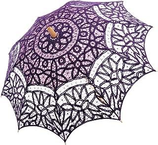Topwedding Victorian Lady Costume Accessory Battenburg Lace Parasol Umbrella