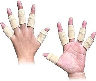 Busy Mom 10pcs Summer Finger Sleeves Sport Elastic Arthritis Trigger Braces Knuckle Compression Protector Prevent Calluses (Black)