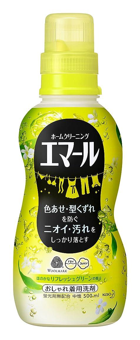 入り口濃度ヒップエマール 洗濯洗剤 液体 おしゃれ着用 リフレッシュグリーンの香り 本体 500ml