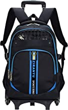 Meetbelify Kids Rolling Backpacks Luggage Six Wheels Unisex Trolley School Bags Blue