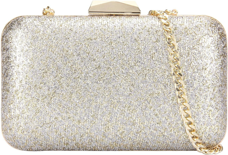 Grace Angel Women's Sparkling Hard Case Evening Handbag Cocktail GA14294 gold