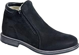 Overland Sheepskin Co Men's Francois Wool-Lined Waterproof Italian Suede Boots