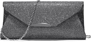 LOVEVOOK Evening Bags Glittering Envelope Clutch with Chain Strap