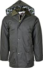 Kentex Online Men's British Quilted Padded Rain Jacket Oily Waxed Coat Fishing Farming