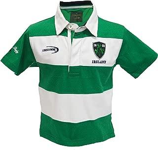 Emerald/White Stripe Ireland Short Sleeve Kids Rugby Shirt