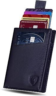 محفظة SKENZBI® RFID للرجال - 12 فتحة حامل بطاقة الائتمان الحد الأدنى - مساحة للنقود، نافذة بطاقة الهوية - حامل بطاقات جلد ...