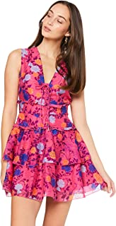 Finders Keepers Women's Visions Mini Dress, Fuschia Floral