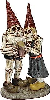 Zombie Gnome - Bavarian Oktoberfest Skeleton Gnome Hans & Gerta Set