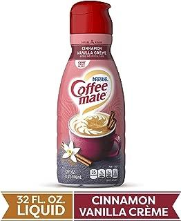 COFFEE MATE Cinnamon Vanilla Creme Liquid Coffee Creamer 32 Fl. Oz. Bottle | Non-dairy, Lactose Free, Gluten Free Creamer