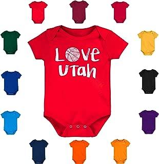 Future Tailgater Utah Loves Basketball Baby Bodysuit Onesie