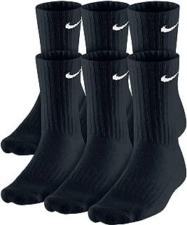 Dri-Fit Training Cotton Cushioned Crew Socks 6 PAIR Black...