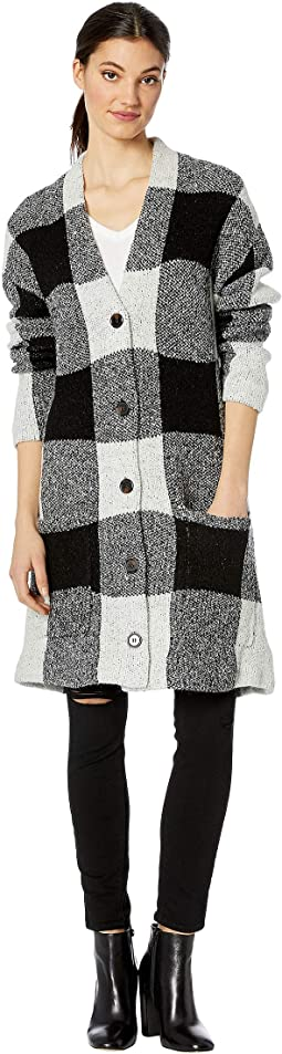 Color Block Black/White Cardigan in Storytime