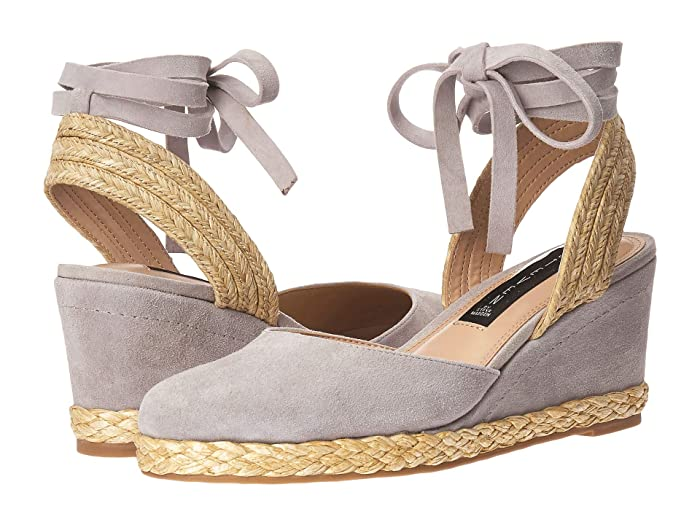 1940s Womens Footwear Steven Charly Grey Suede Womens Shoes $69.99 AT vintagedancer.com