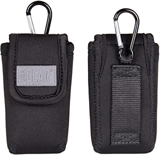 USA Gear Universal Flip Phone Case Holster with Belt Loop, Carabiner Clip, and Easy Access Cover - Compatible with Jitterbug Flip, Alcatel GO, LG B470, Motorola Barrage, Kyocera DuraXE and More