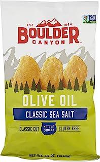 Boulder Canyon Kettle Cooked Potato Chips, Olive Oil, Sea Salt, 6.5 Ounce