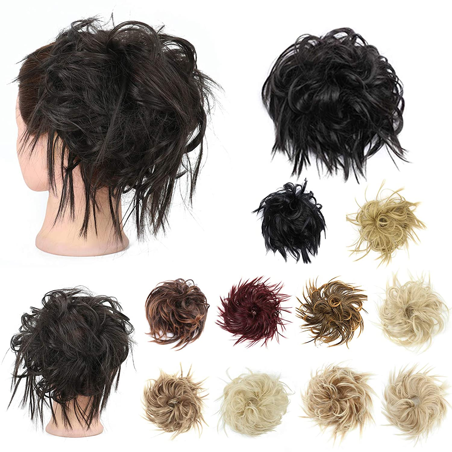 King Gift Tousled Updo Messy Max 47% Gorgeous OFF Hair Piece Extension Ponyt Bun