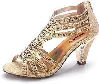 22b819660c3c Mila Lady Women s Lexie Crystal Dress Heeled Sandals (Kimi 25)
