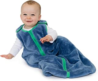 baby deedee Sleep Nest Teddy Baby Sleeping Bag, Fuzzy Dino, Large (18-36 Months)