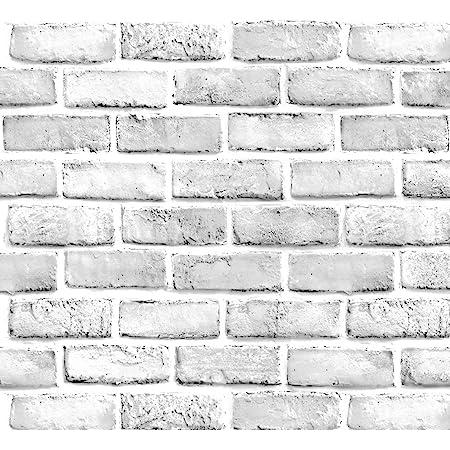 White Brick Wallpaper Brick Peel And Stick Wallpaper Backsplash Peel Stick Or Wall Paper Self Adhesive Wallpaper Easily Removable Wallpaper 1 97 Ft X 9 83 Ft 23 6 X 118