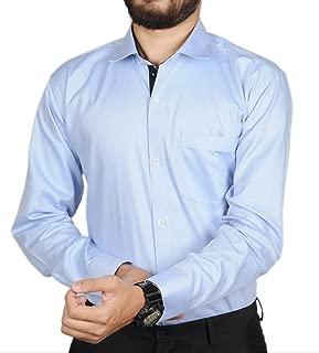 The Mods Light Blue Self Design Shirt