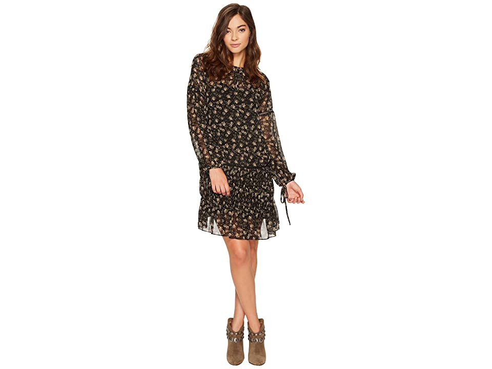 ASTR the Label Daria Dress (Black Tan Floral) Women