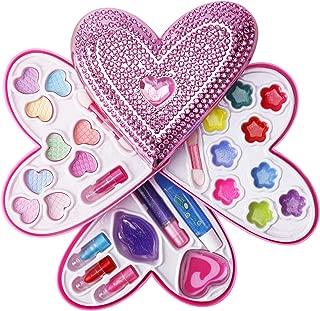 Liberty Imports Petite Girls Heart Shaped Cosmetics Play Set - Fashion Makeup Kit for Kids