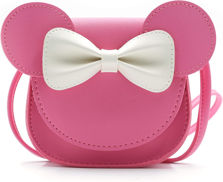 HXQ Little Mouse Max 75% OFF Ear Bow Crossbody PU Purse Handbag Shoulder for Ranking TOP7