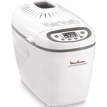 Moulinex OW6101 Home Baguette - Panificadora de 1650 W, 16 programas, sin gluten, hasta 1.5 kg, inicio programado, mantenimiento caliente, incluye bandejas para baguette, 2 aspas amasar y recetario: Amazon.es: Hogar