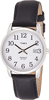 Timex Mens Quartz Watch, Analog Display And Leather Strap - T2H281