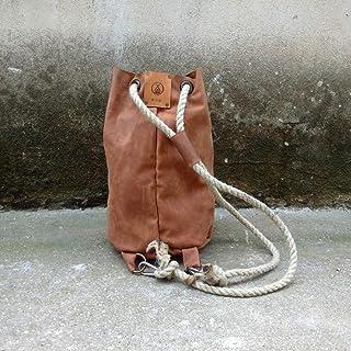 Borsone da Campeggio in Pelle Fatto a mano artigianale camping zaino borsa cuoio sacco Uomo borsa TheWestlands Pelle Viagg...