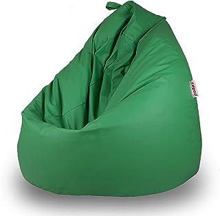 Italpouf - Puff Pera de Polipiel XXL 100 x 130 cm 500l con Funda Extraible Indoor Muy Resistente Moldeable con Relleno, 21 Colores (Verde)