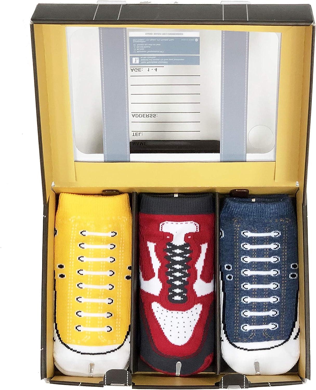 B&EGG Kids' Low Cut Casual Socks GIFT BOX 3 Pack | YELLOW