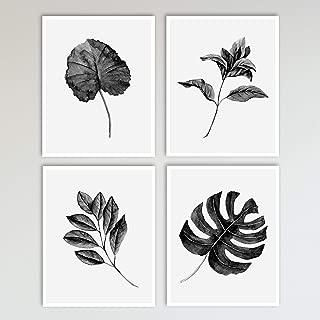 black and white wall art set