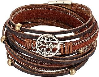 """/"""" vider un bracelet en cuir style punk les femmes la mode fleur large bracelet"""