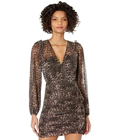 ASTR the Label Norah Dress (Metallic Leopard) Women