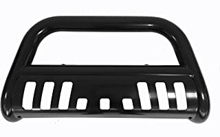 Bull Bar Skid Plate Front Push Bumper Grille Guard Black Steel for 2007-2016 Ford Expedition / 2007-2016 Lincoln Navigator / 2004-2018 Ford F150 Pickup (Not Fit Eco-Boost Or 2004 Heritage Models)