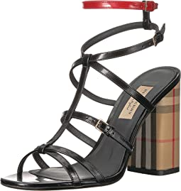 Vintage Check and Patent Leather Sandals