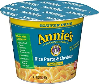 Annie's Rice Pasta and Cheddar Macaroni and Cheese 2.01 oz (Pack of 12)