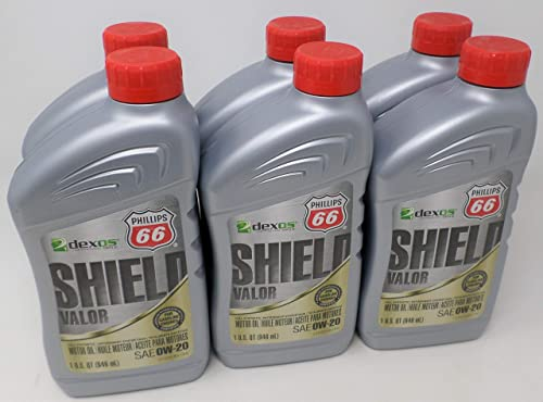 high quality Phillips 66 0W20 Shield Valor Full Synthetic wholesale Oil Quart discount 1079040 (Pack of 6) online sale