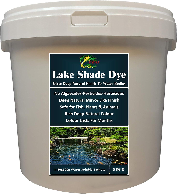 HYDRA Dark Natural Colour, Makes Water Appear Deeper LAKE SHADE POWDER DYE 5 KG