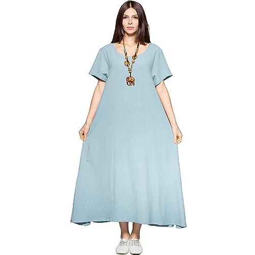 Plus Size Summer Cotton Dresses: Amazon.com