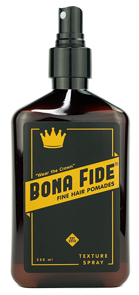 安定熱意オフセットボナファイドポマード(BONA FIDE POMADE) テクスチャースプレー (250mL) メンズ 整髪料 ヘアスタイリング剤 水性 ヘアグリース スタイリングスプレー 液体状ポマード リッキドタイプ ツヤあり