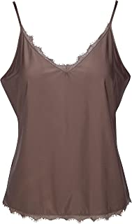 Sexy Women's Camisoles with Frill Detail and Adjustable Straps – Assorted Colors and Sizes up to XXL