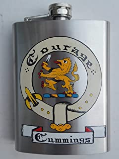 Hip Flask with Family Crest