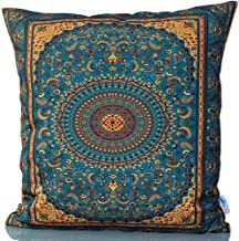 """Sunburst Outdoor Living 18"""" x 18"""" (No Piping) Opulent Ornate Moroccan Decorative Throw Pillow Cushion Cover for Couch, Bed..."""
