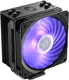 Cooler Master Hyper 212 RGB Black Edition CPU Cooler with Jet Black Nickel Plated Fins for Premium Aesthetic Appeal - Blac...