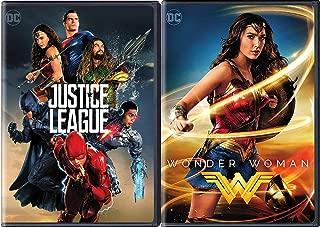 The League of heroes Movie 2 Pack Justice League DVD & DC Wonder Woman Super Hero Double Feature Wonder Woman / Batman / Superman / The Flash / Cyborg / Aquaman
