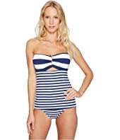 LAUREN Ralph Lauren - Chic Stripe Underwire Tubini Top w/ Removable Cups