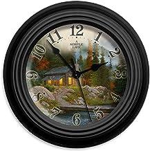 "Reflective Art Simple Life Wall Clock, 10"""